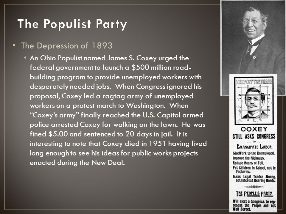 The Populist Party The Depression of 1893