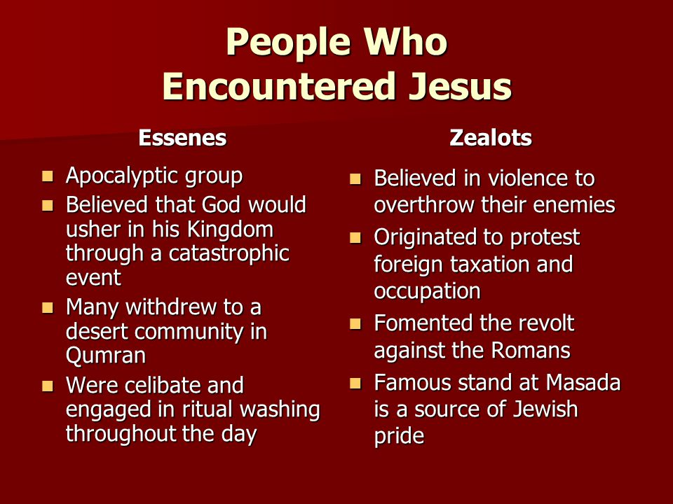 People Who Encountered Jesus