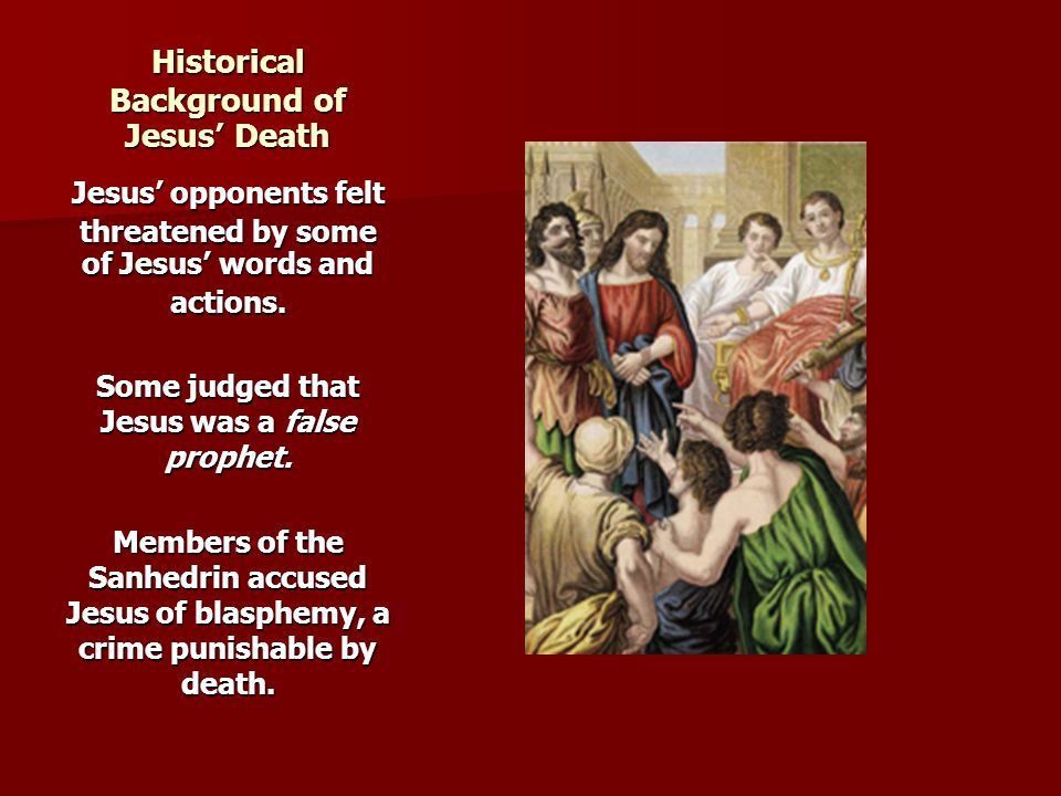 Historical Background of Jesus' Death