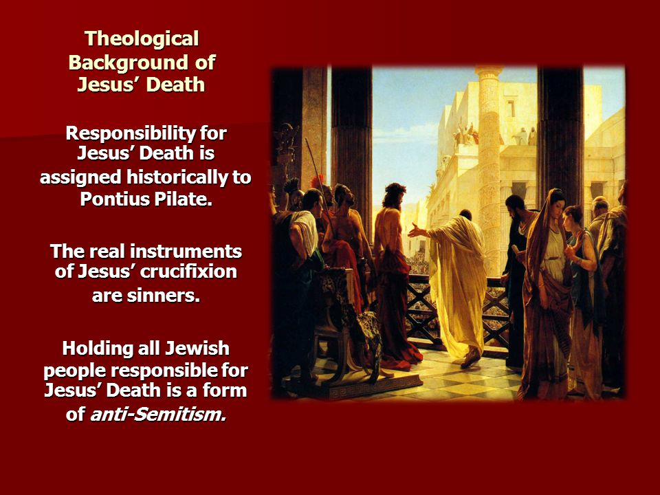 Theological Background of Jesus' Death