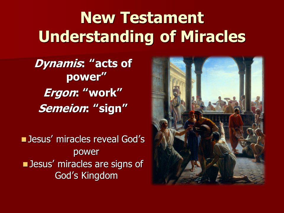 New Testament Understanding of Miracles