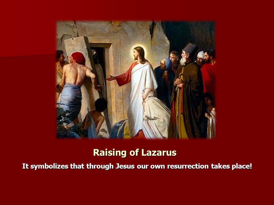 It symbolizes that through Jesus our own resurrection takes place!