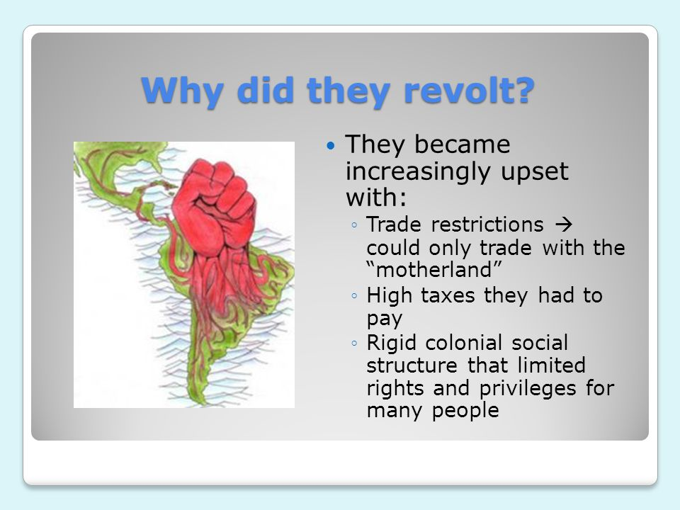 Why did they revolt They became increasingly upset with: