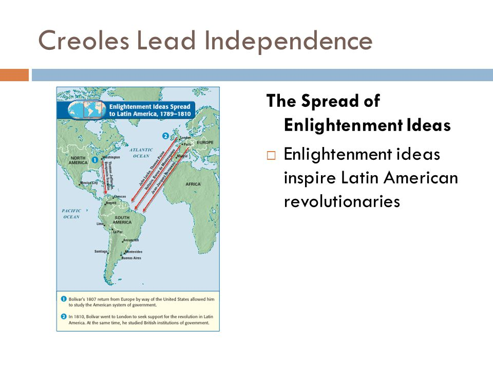 Creoles Lead Independence