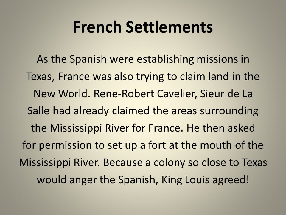 French Settlements