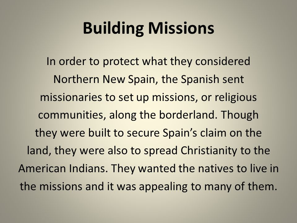 Building Missions