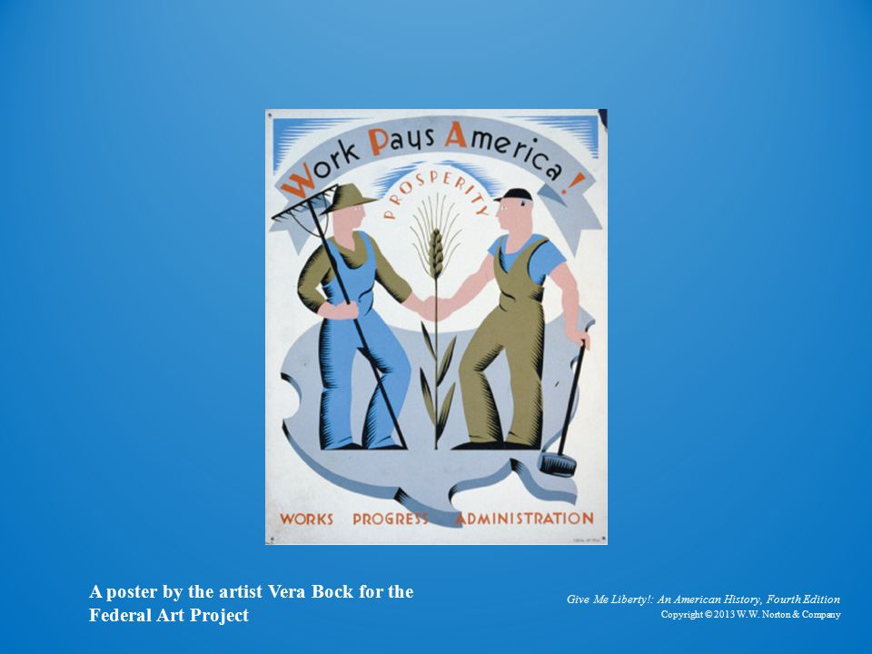 Work Pays America A poster by the artist Vera Bock for the