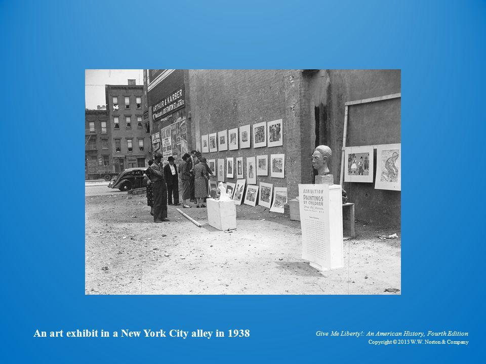 Art Exhibit An art exhibit in a New York City alley in 1938