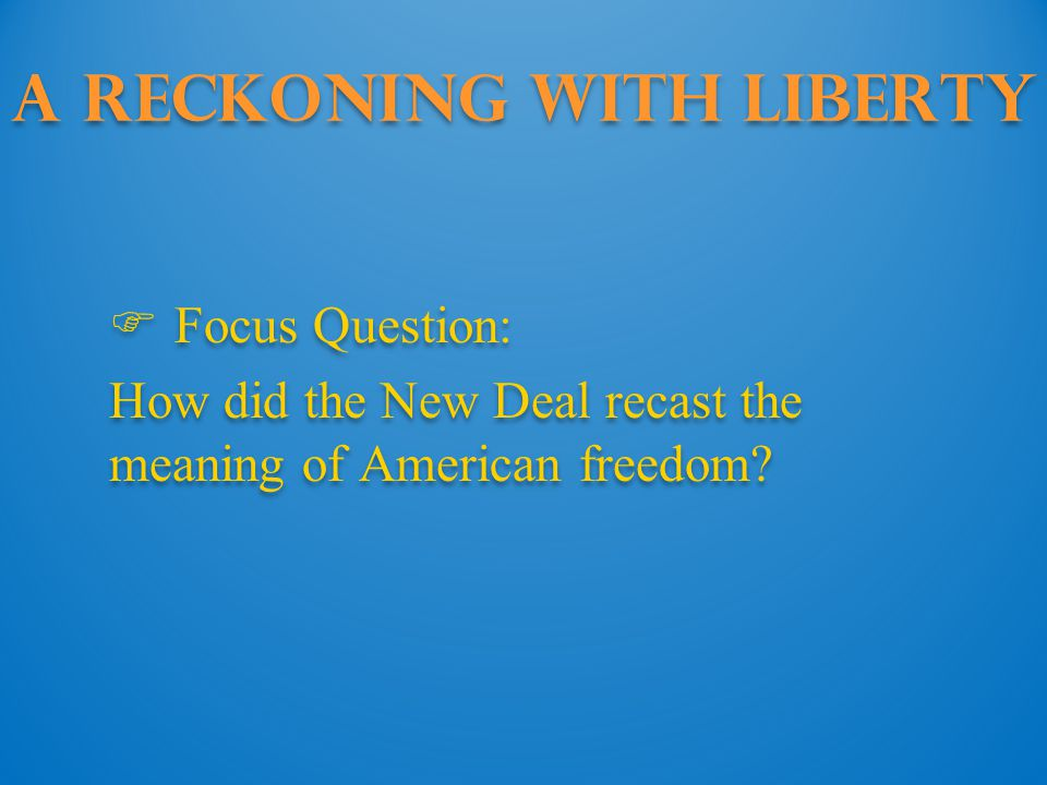 A Reckoning with Liberty