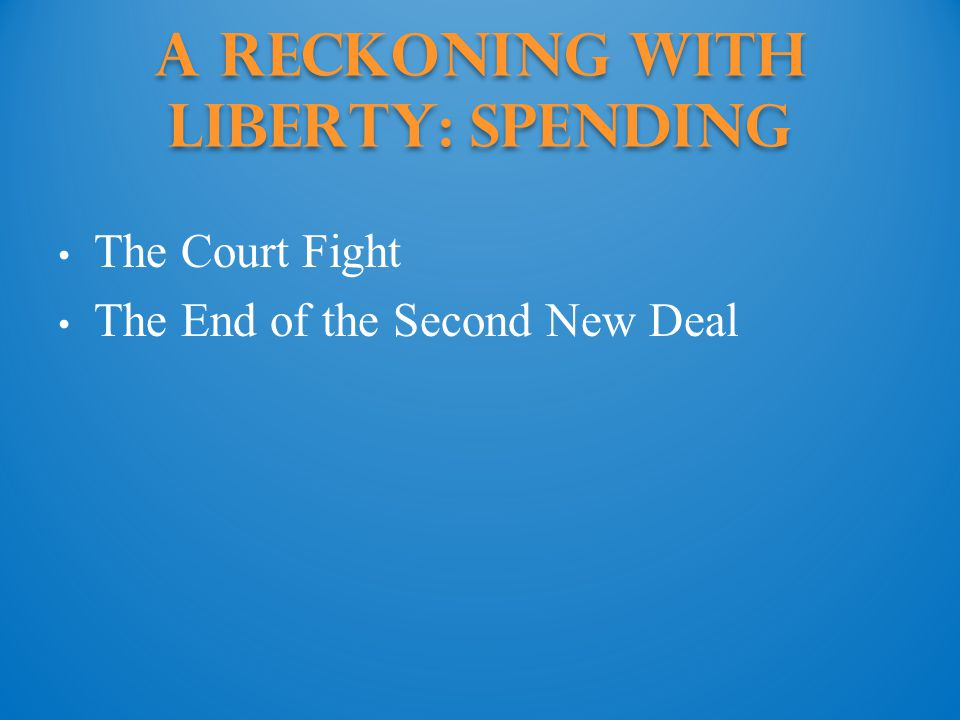 A Reckoning with Liberty: Spending