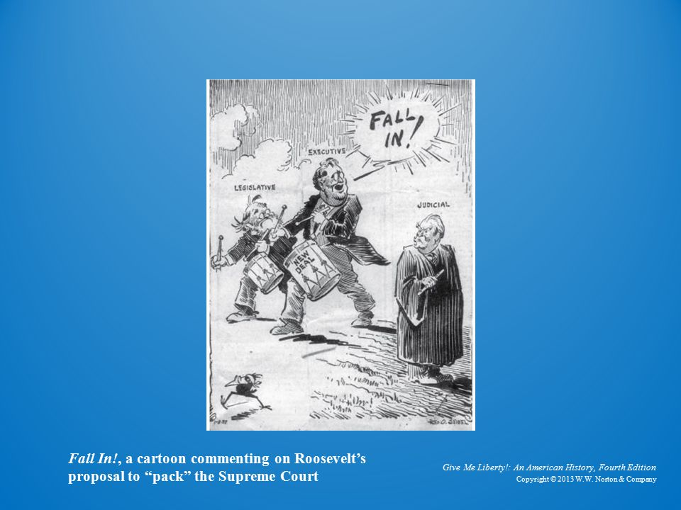 Fall In Fall In!, a cartoon commenting on Roosevelt's