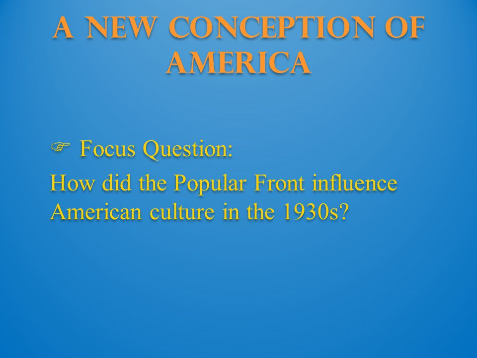 A New Conception of America