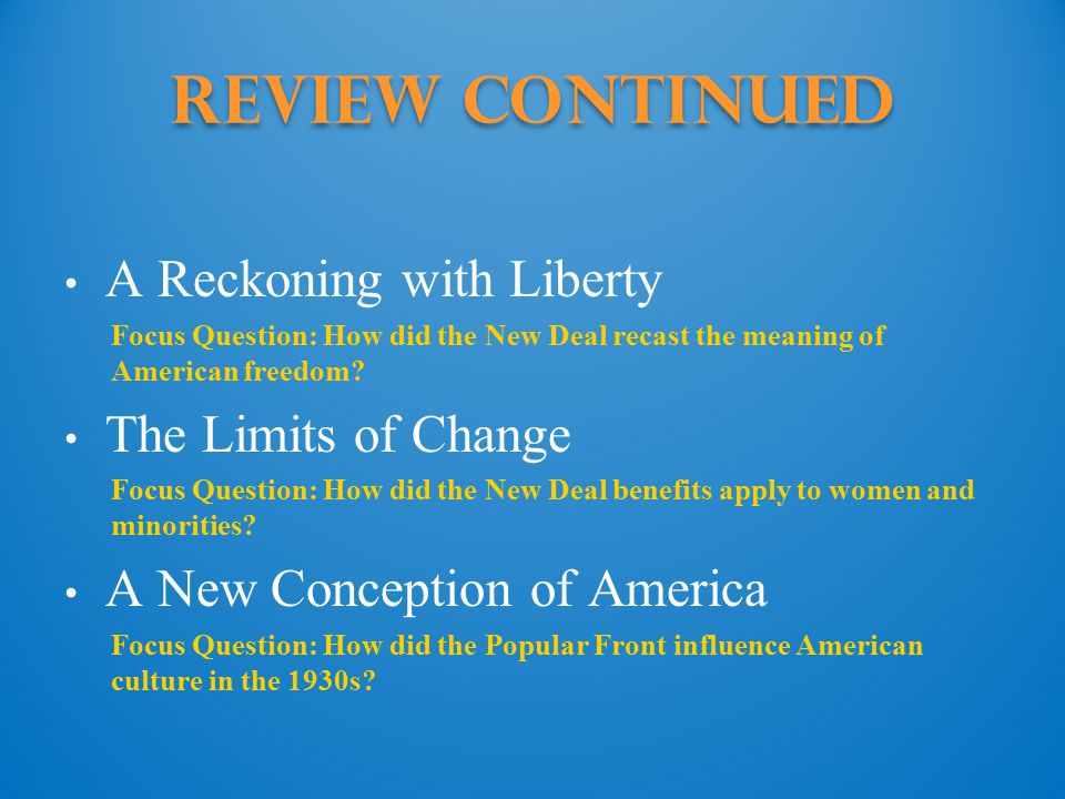 Review COntinued A Reckoning with Liberty The Limits of Change
