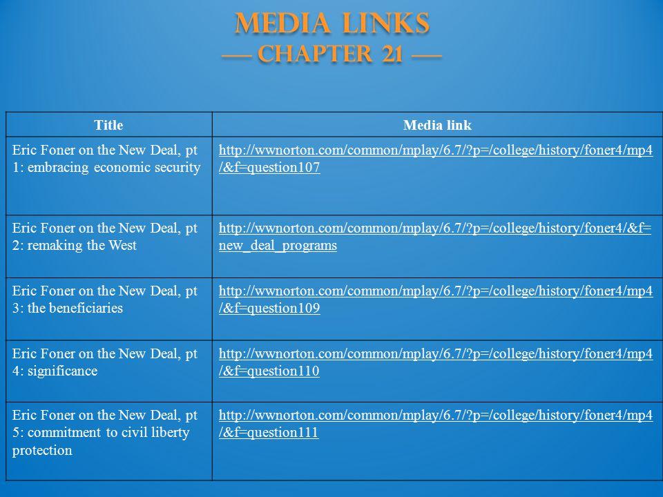 MEDIA LINKS —— Chapter 21 ——