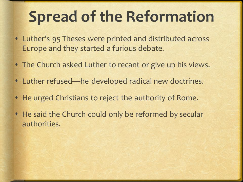 Spread of the Reformation