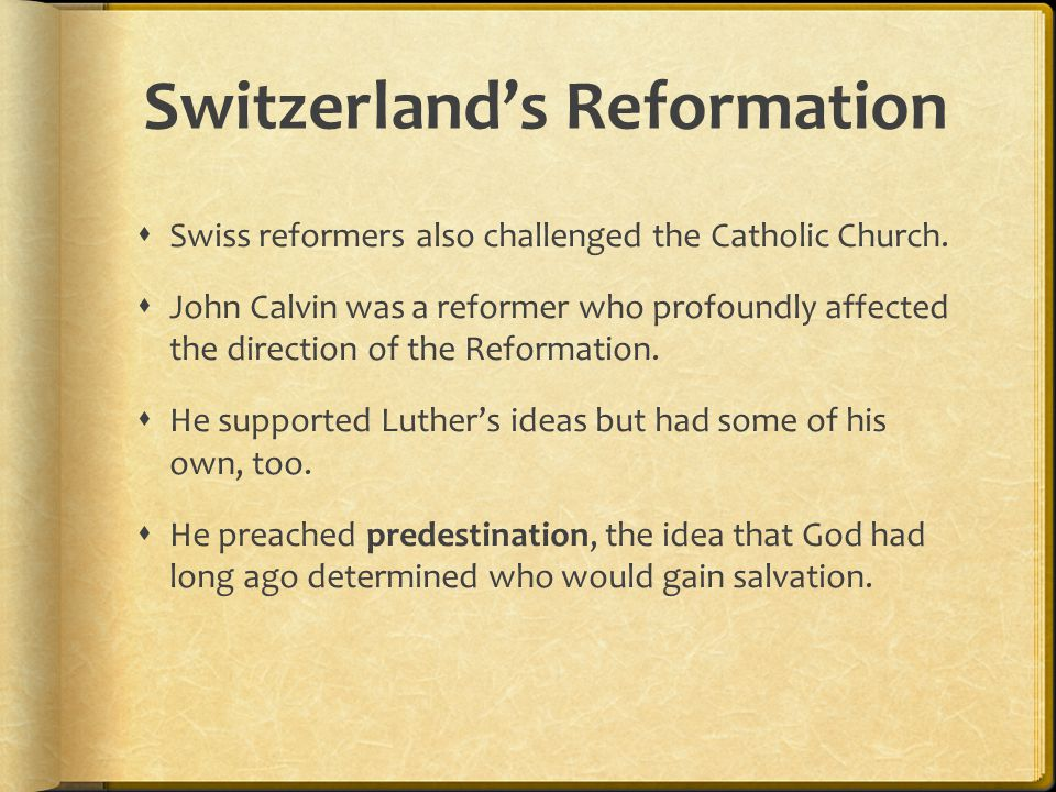 Switzerland's Reformation