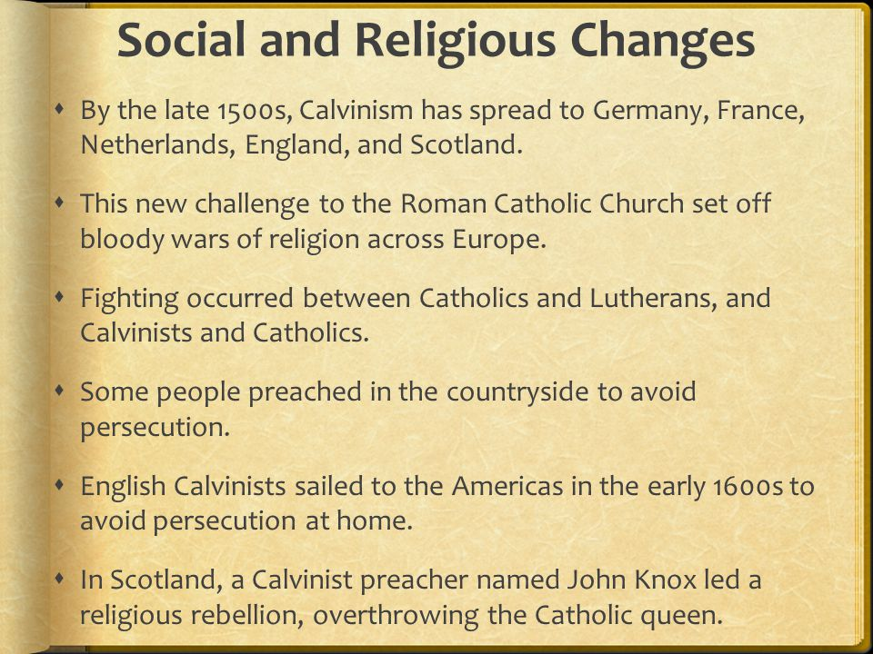 Social and Religious Changes