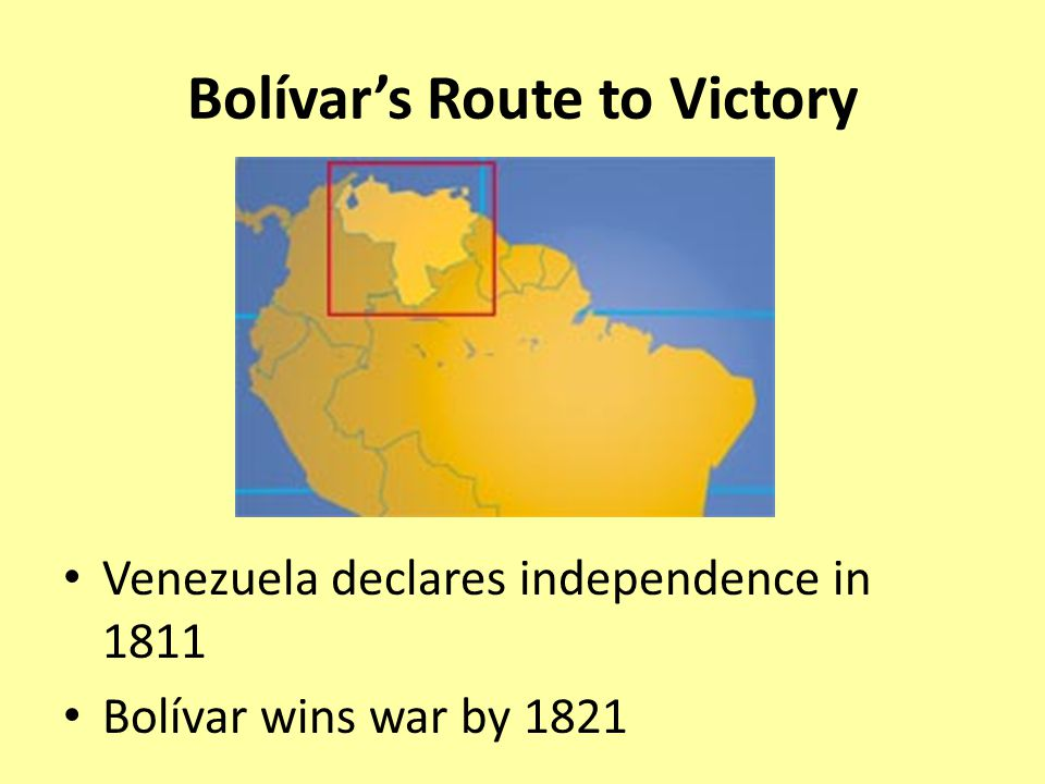 Bolívar's Route to Victory