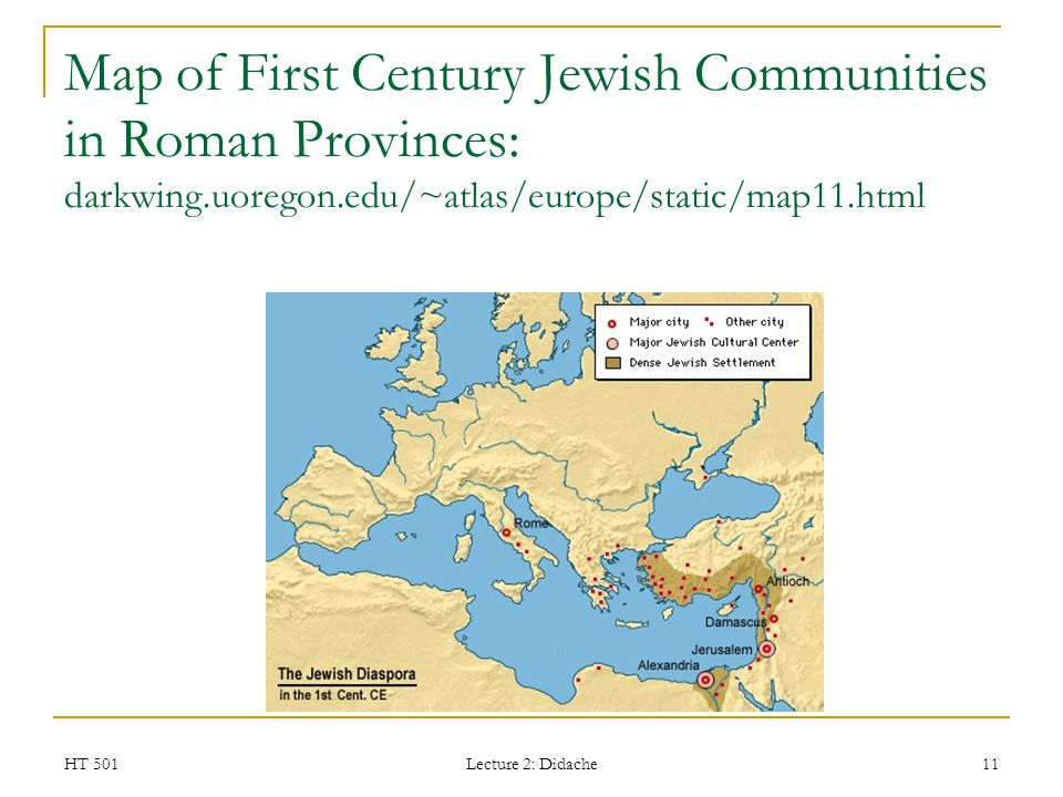 Map of First Century Jewish Communities in Roman Provinces: darkwing