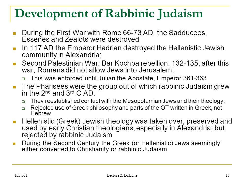 Development of Rabbinic Judaism