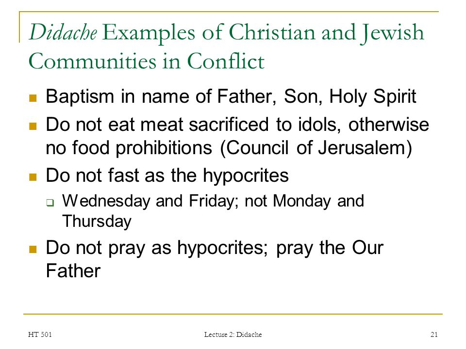 Didache Examples of Christian and Jewish Communities in Conflict
