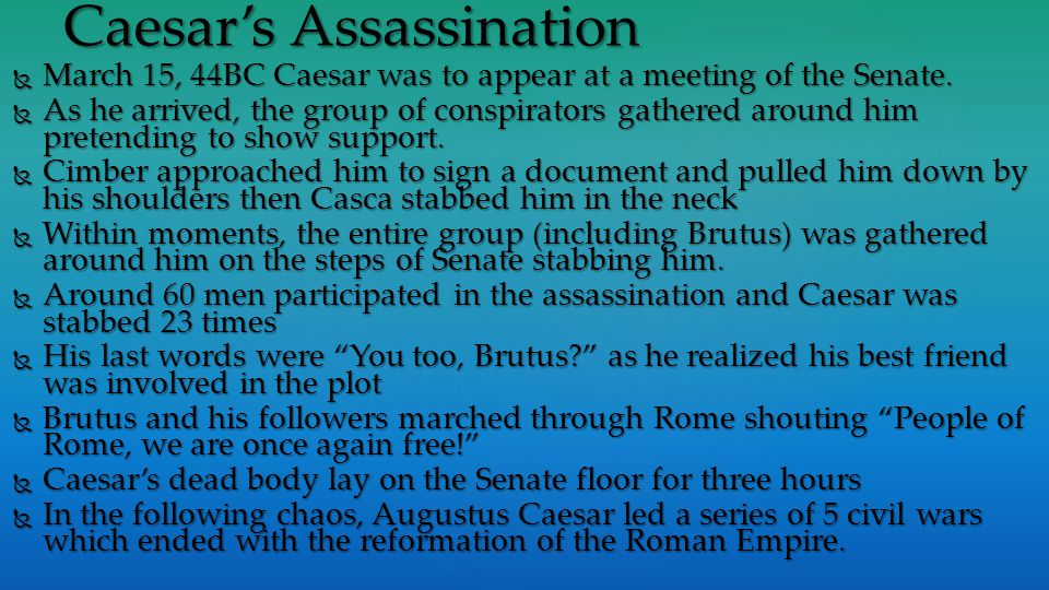 Caesar's Assassination