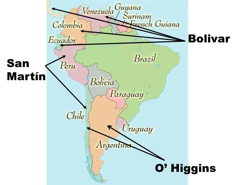 Bolivar San Martín O' Higgins