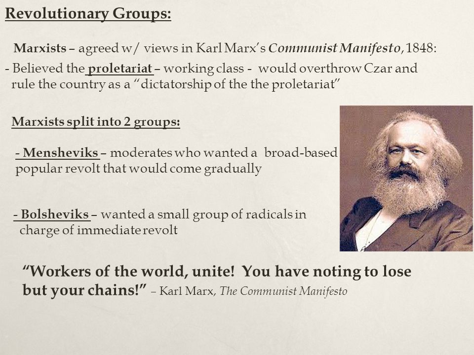 Revolutionary Groups: