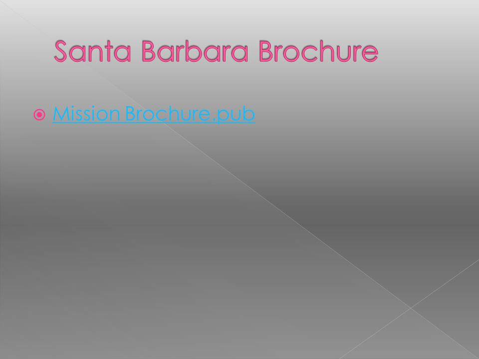 Santa Barbara Brochure