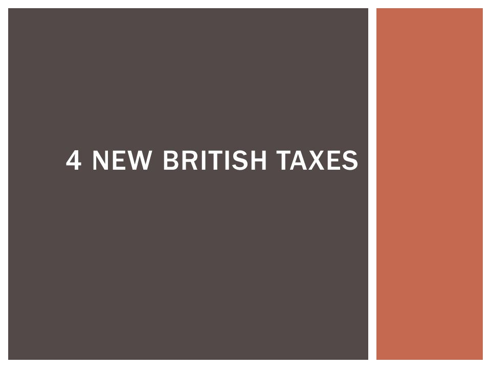 4 new British taxes