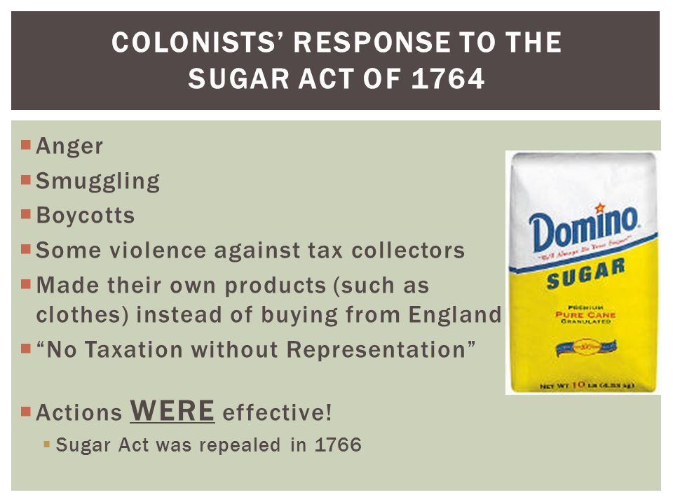 Colonists' Response to the Sugar Act of 1764