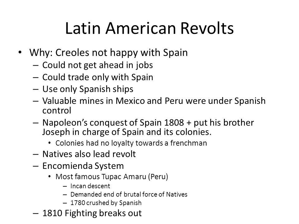 Latin American Revolts