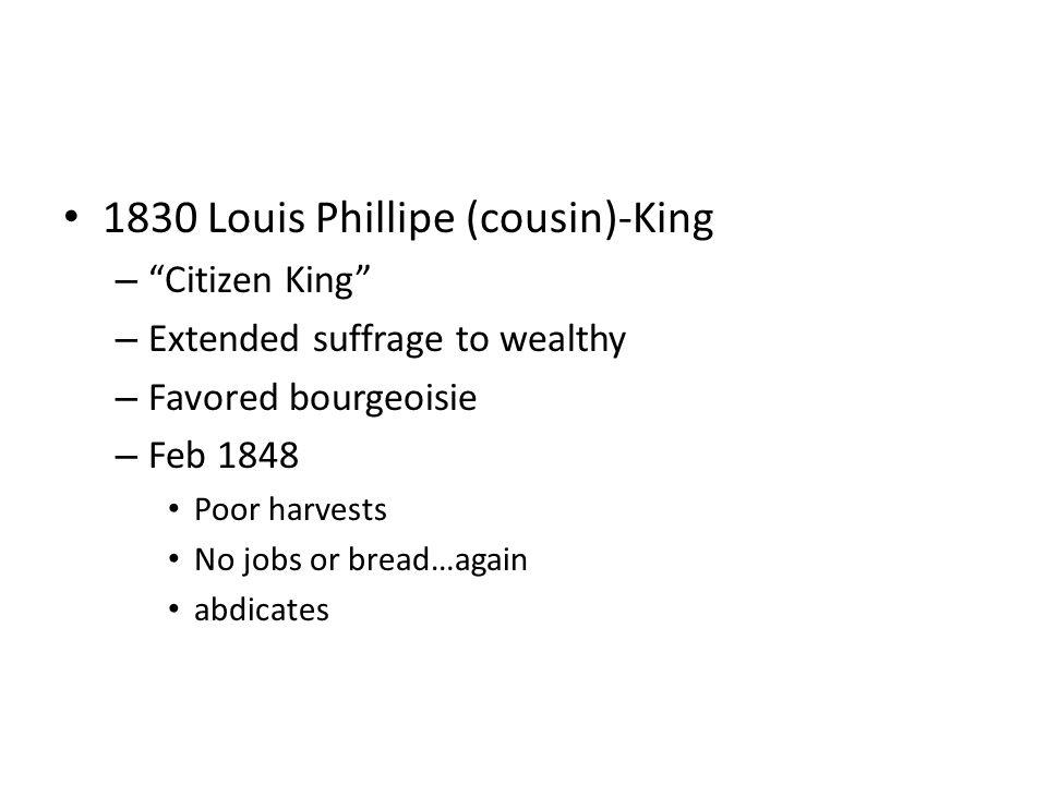 1830 Louis Phillipe (cousin)-King