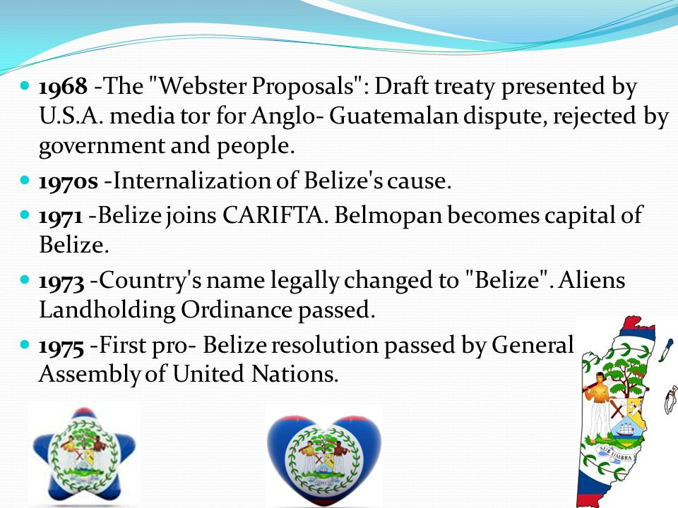 1968 -The Webster Proposals : Draft treaty presented by U. S. A