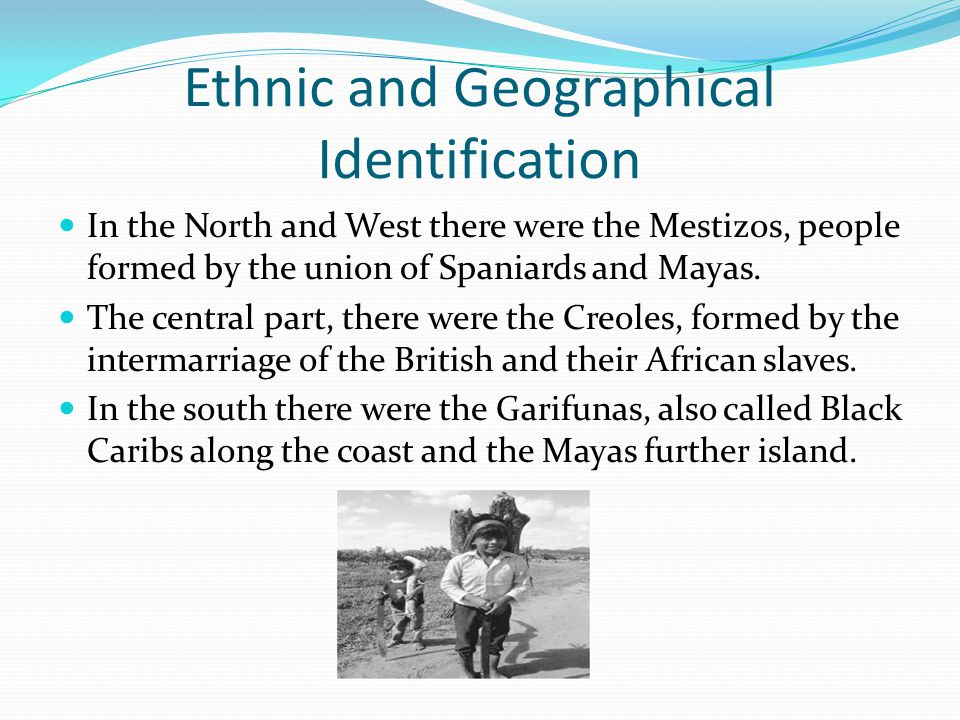 Ethnic and Geographical Identification