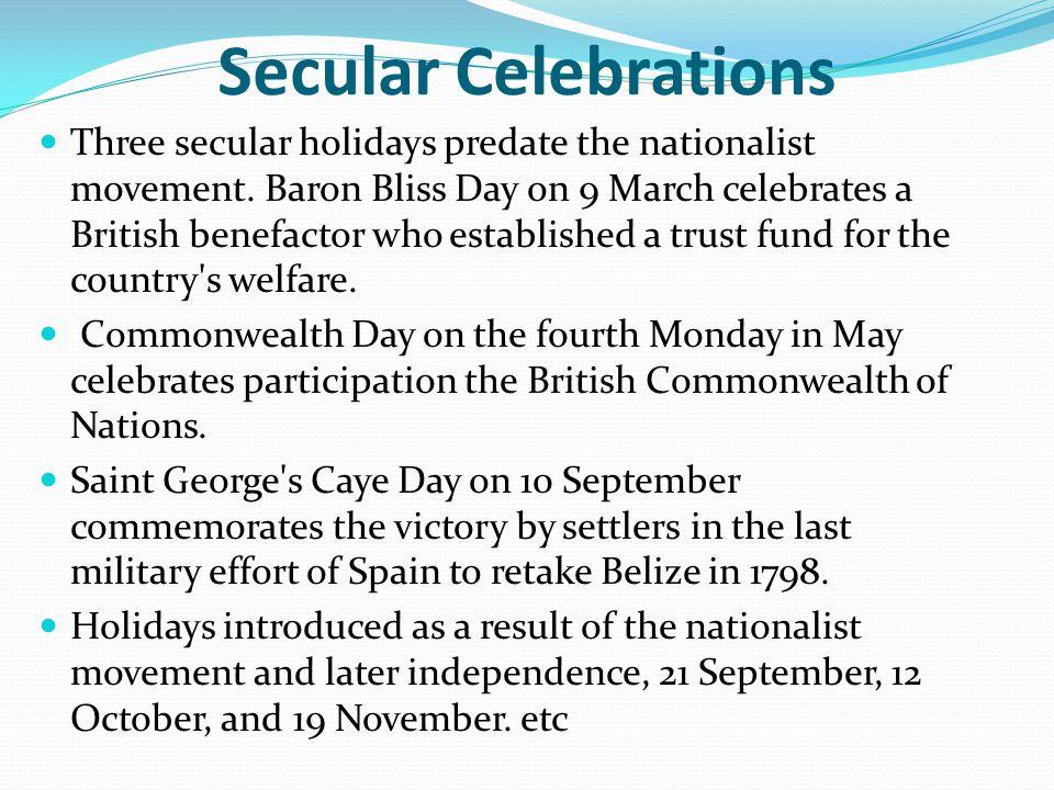 Secular Celebrations