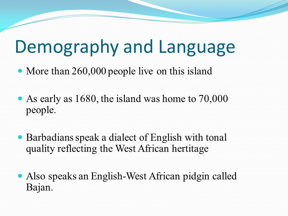Demography and Language