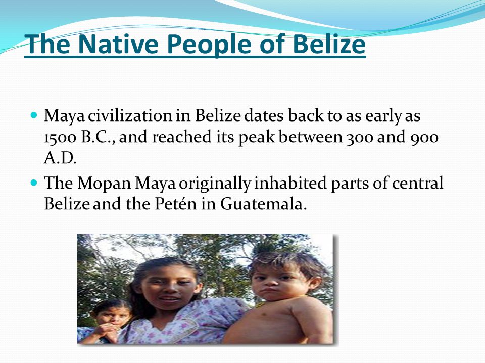 The Native People of Belize