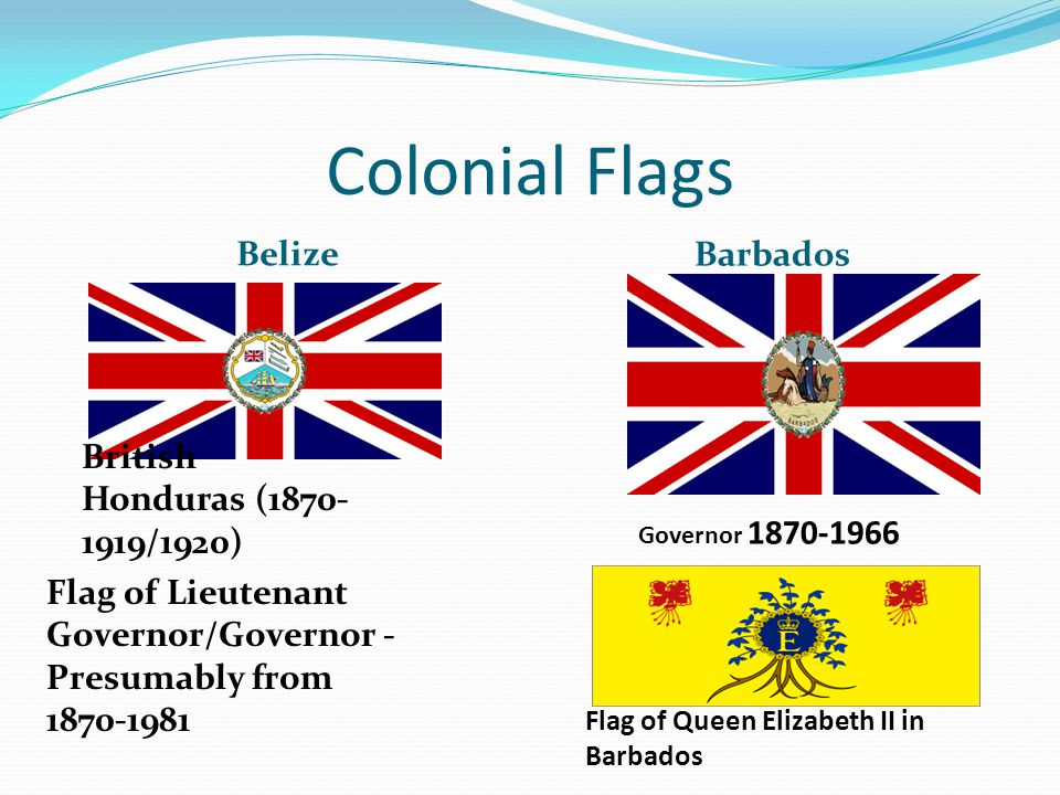 Colonial Flags Belize Barbados British Honduras (1870-1919/1920)
