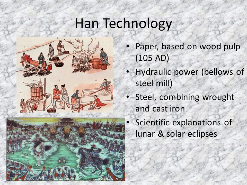 Han Technology Paper, based on wood pulp (105 AD)