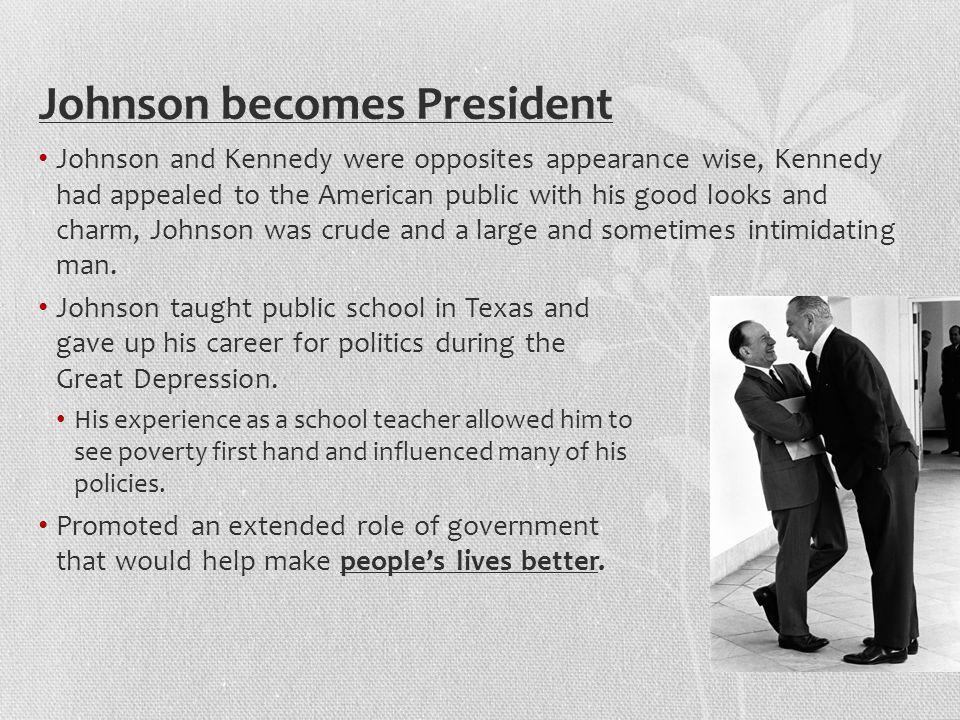 Johnson becomes President