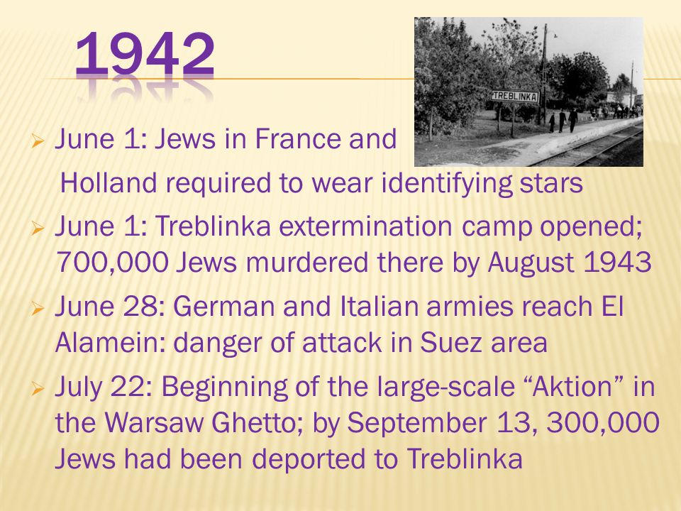 1942 June 1: Jews in France and