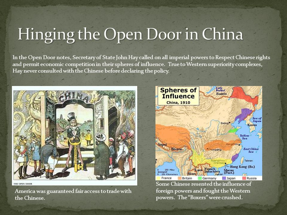 Hinging the Open Door in China