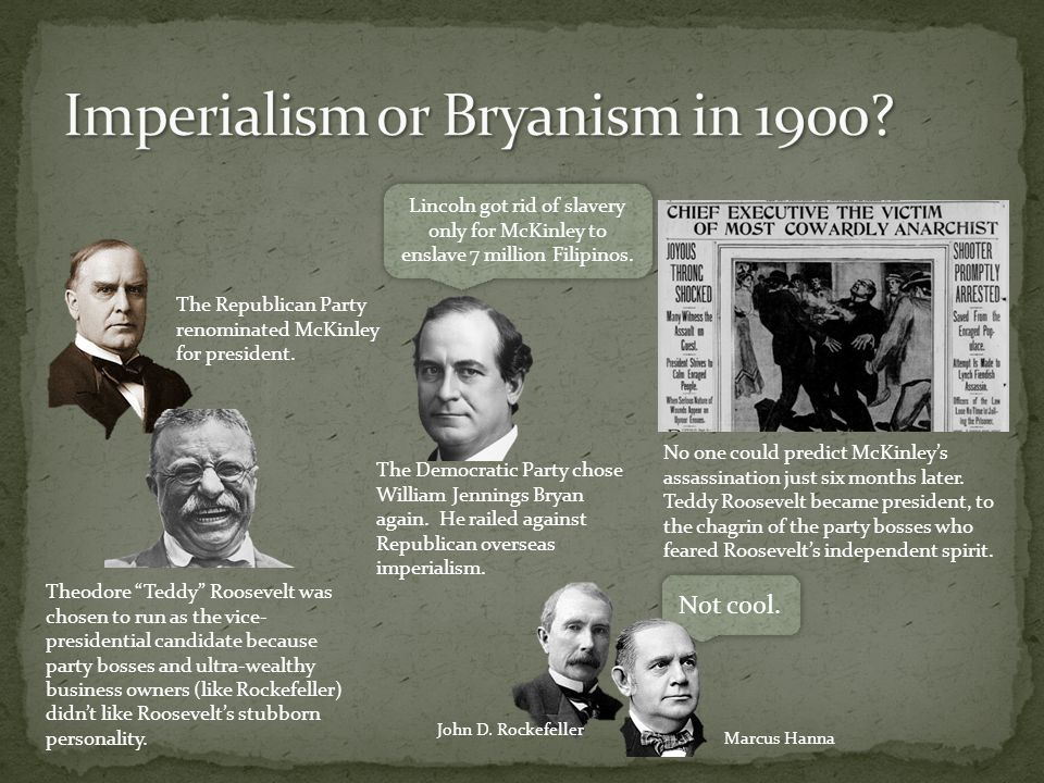 Imperialism or Bryanism in 1900