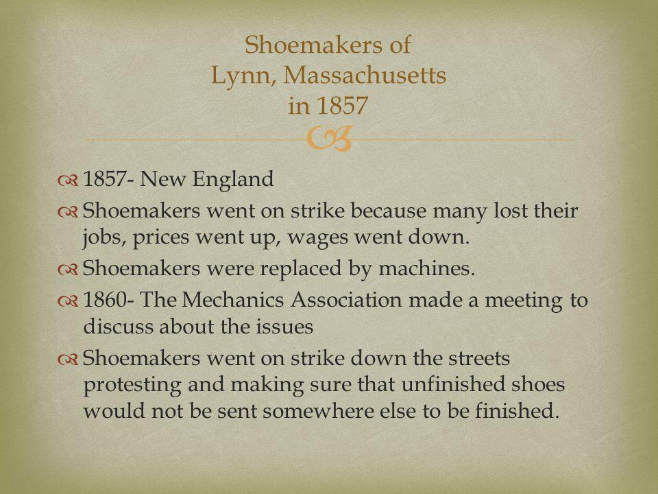 Shoemakers of Lynn, Massachusetts in 1857