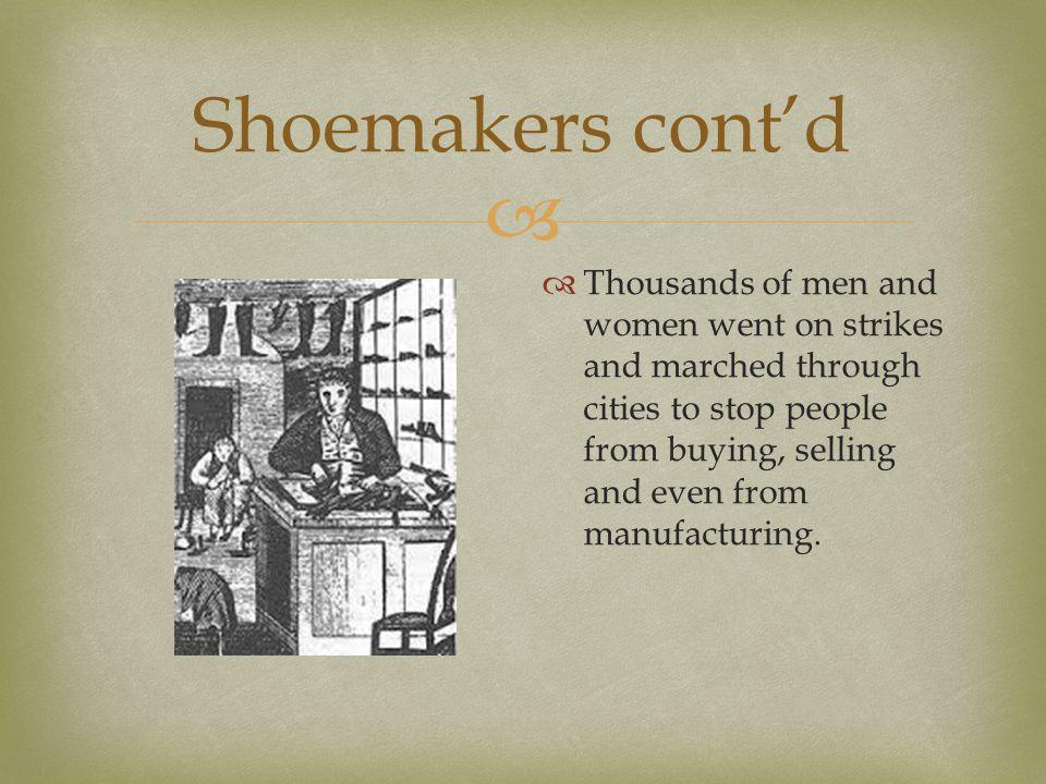 Shoemakers cont'd