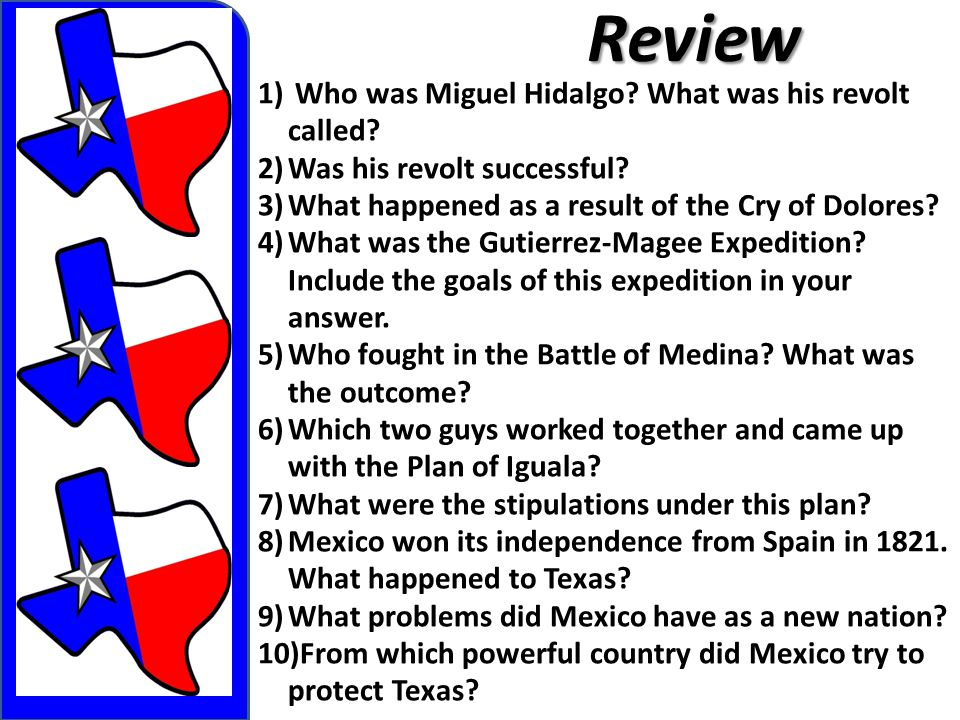 Review Who was Miguel Hidalgo What was his revolt called