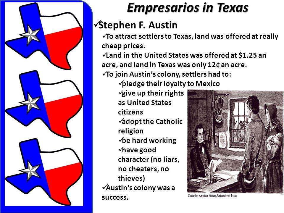 Empresarios in Texas Stephen F. Austin