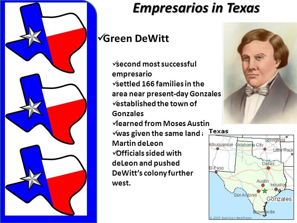 Empresarios in Texas Green DeWitt second most successful empresario