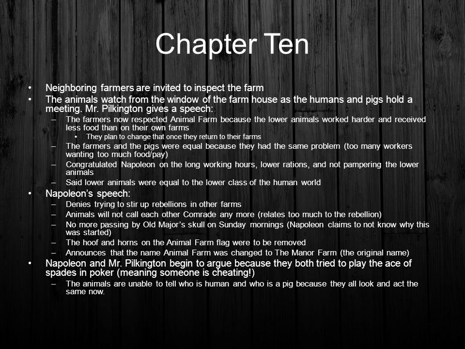 Chapter Ten Neighboring farmers are invited to inspect the farm